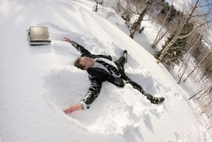 snowy business man