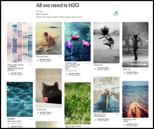 A Board curated by Center Parcs. Notice that it highlights a particular mood, not a specific product or service. Boards like these can fill out your brand's personality on Pinterest.