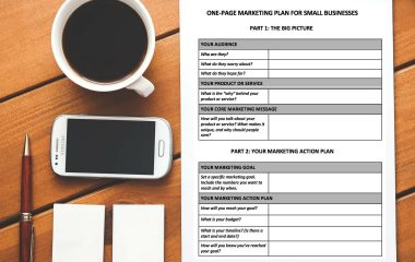 Simple One Page Marketing Plan Template